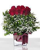 Tokat çiçek online çiçek siparişi  11 adet gül mika yada cam - anneler günü seçimi -