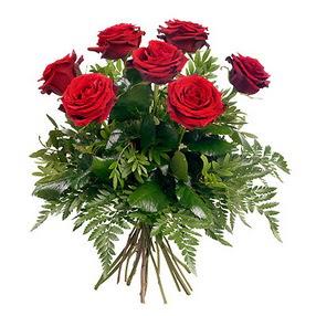 Tokat çiçek gönderme sitemiz güvenlidir  7 adet kırmızı gülden buket