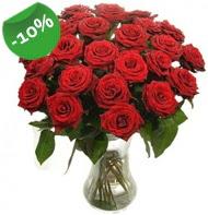 Vazo içerisinde 25 adet kırmızı gül  Tokat çiçek yolla