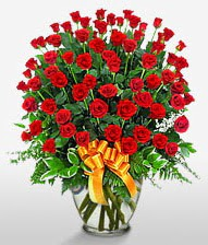 Görsel vazo içerisinde 101 adet gül  Tokat çiçek yolla