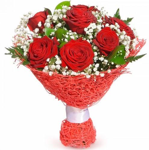 7 adet kırmızı gül buketi  Tokat online çiçekçi , çiçek siparişi