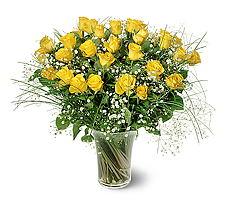 Tokat güvenli kaliteli hızlı çiçek  15 adet sarigül mika yada cam vazoda