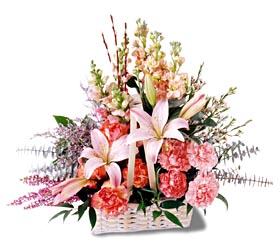 Tokat güvenli kaliteli hızlı çiçek  mevsim çiçekleri sepeti özel tanzim