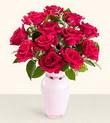 Tokat çiçek mağazası , çiçekçi adresleri  10 kirmizi gül cam yada mika vazo tanzim