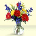 Tokat çiçek gönderme  cam yada mika vazo içinde karisik mevsim