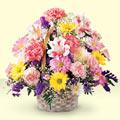 Tokat çiçekçi telefonları  sepet içerisinde gül ve mevsim