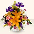 Tokat çiçek satışı  sepet içinde karisik çiçekler