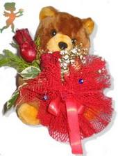 oyuncak ayi ve gül tanzim  Tokat online çiçekçi , çiçek siparişi