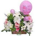 balon ve çiçeklerle tanzim  Tokat yurtiçi ve yurtdışı çiçek siparişi