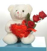 3 adetgül ve oyuncak   Tokat çiçek siparişi vermek