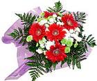 karisik gerbera ve kir çiçegi   Tokat anneler günü çiçek yolla