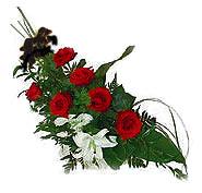 7 adet gül ve kazablanka   Tokat çiçek servisi , çiçekçi adresleri