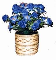 yapay mavi çiçek sepeti  Tokat çiçek gönderme