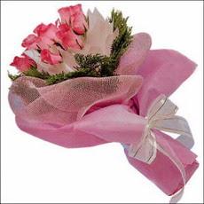 pembe güllerden buketler  Tokat cicek , cicekci