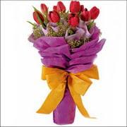 kirmizi lale buketi demeti   Tokat çiçek servisi , çiçekçi adresleri