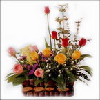 sepette karisik aranjman   Tokat ucuz çiçek gönder
