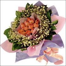 11  adet  gül ve   elyaflar   Tokat kaliteli taze ve ucuz çiçekler