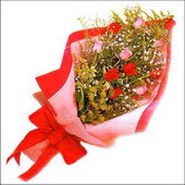 12 adet renkli  gül buketi   Tokat kaliteli taze ve ucuz çiçekler