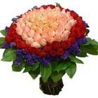71 adet renkli gül buketi   Tokat çiçek servisi , çiçekçi adresleri