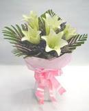 3 adet lilyum çiçegi buketi   Tokat çiçek online çiçek siparişi