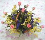 Tokat uluslararası çiçek gönderme  pembe güllerden sepetde