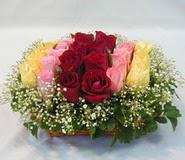 15 adet reprenkli gül sepeti   Tokat uluslararası çiçek gönderme