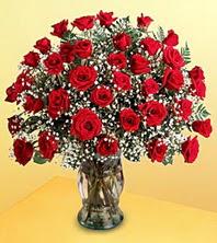 Tokat çiçekçi telefonları  51 adet kirmizi gül ve cam vazo