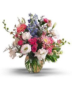 Tokat çiçekçi telefonları  karisik mevsim demeti vazo içerisinde