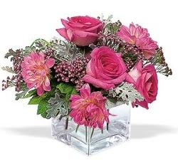 Tokat çiçek gönderme  cam içerisinde 5 gül 7 gerbera çiçegi
