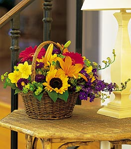 Tokat çiçek gönderme  karisik sepet içinde mevsimsel çiçekler