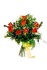 9 adet kirmizi gül buketi  Tokat kaliteli taze ve ucuz çiçekler