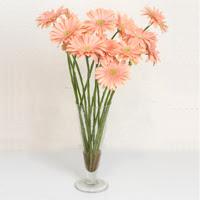 Tokat güvenli kaliteli hızlı çiçek  ince cam vazoda 15 adet gerbera çiçegi