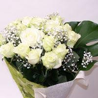 Tokat çiçek mağazası , çiçekçi adresleri  11 adet sade beyaz gül buketi