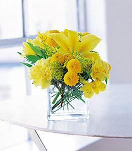 Tokat çiçek servisi , çiçekçi adresleri  sarinin sihri cam içinde görsel sade çiçekler