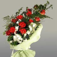 Tokat çiçek servisi , çiçekçi adresleri  11 adet kirmizi gül buketi sade haldedir
