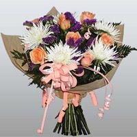 güller ve kir çiçekleri demeti   Tokat online çiçekçi , çiçek siparişi
