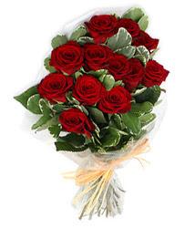 Tokat online çiçek gönderme sipariş  9 lu kirmizi gül buketi.