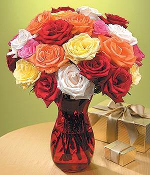 Tokat çiçek , çiçekçi , çiçekçilik  13 adet renkli gül