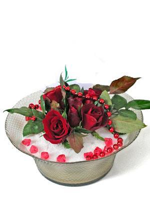 Tokat İnternetten çiçek siparişi  EN ÇOK Sevenlere 7 adet kirmizi gül mika yada cam tanzim