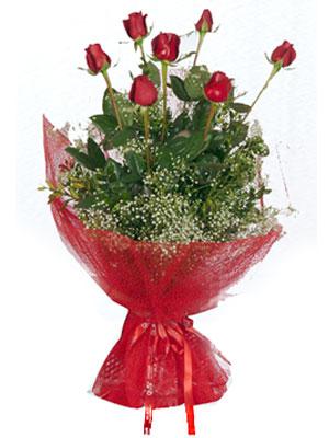 Tokat çiçekçi mağazası  7 adet gülden buket görsel sik sadelik