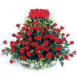 Tokat internetten çiçek satışı  41 adet kirmizi gülden sepet tanzimi