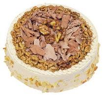 Karamelli 4 ile 6 kisilik yas pasta  Tokat uluslararası çiçek gönderme
