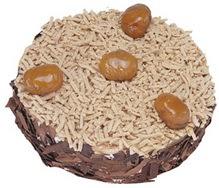 Kestahaneli yas pasta 4 ile 6 kisilik pasta  Tokat güvenli kaliteli hızlı çiçek