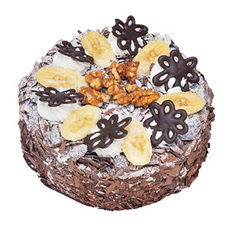 Muzlu çikolatali yas pasta 4 ile 6 kisilik   Tokat çiçekçi telefonları