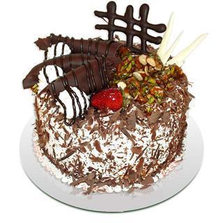 4 ile 6 kisilik çikolatali yas pasta  Tokat internetten çiçek satışı