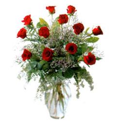 Vazo içerisinde 11 kirmizi gül  Tokat İnternetten çiçek siparişi