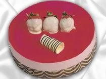pasta siparisi 4 ile 6 kisilik yas pasta çilekli yaspasta  Tokat çiçekçi mağazası