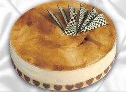 taze pasta 4 ile 6 kisilik yas pasta karamelli yaspasta  Tokat online çiçekçi , çiçek siparişi
