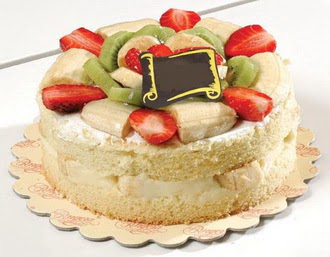 pasta siparisi 4 ile 6 kisilik karisik meyvali yas pasta  Tokat çiçekçi mağazası