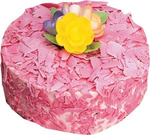 pasta siparisi 4 ile 6 kisilik framboazli yas pasta  Tokat uluslararası çiçek gönderme